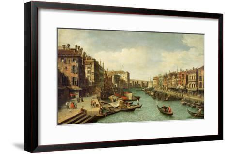 The Grand Canal Near the Rialto Bridge, Venice, C.1730-Canaletto-Framed Art Print