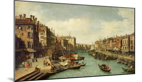 The Grand Canal Near the Rialto Bridge, Venice, C.1730-Canaletto-Mounted Giclee Print