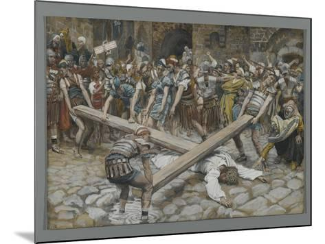 Simon the Cyrenian Compelled to Carry the Cross with Jesus-James Tissot-Mounted Giclee Print