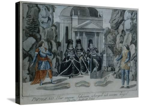 Scene from 'The Magic Flute' by Wolfgang Amadeus Mozart-German School-Stretched Canvas Print