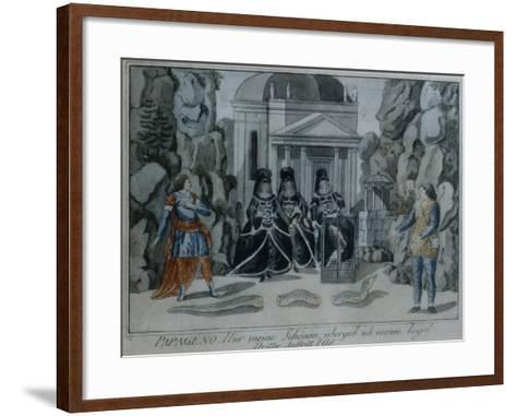 Scene from 'The Magic Flute' by Wolfgang Amadeus Mozart-German School-Framed Art Print