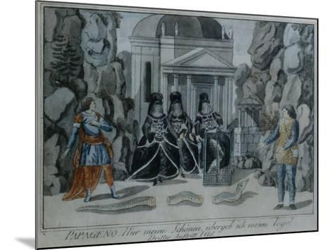 Scene from 'The Magic Flute' by Wolfgang Amadeus Mozart-German School-Mounted Giclee Print