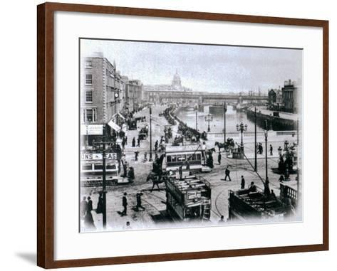 O' Connell Bridge and the River Liffey, Dublin, C.1900-Irish Photographer-Framed Art Print