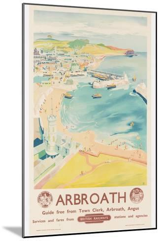 Arbroath, Poster Advertising British Railways, C.1950-English School-Mounted Giclee Print