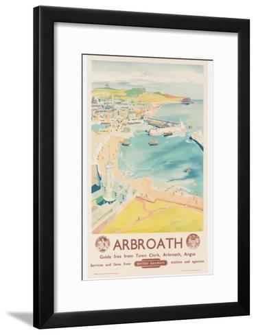 Arbroath, Poster Advertising British Railways, C.1950-English School-Framed Art Print