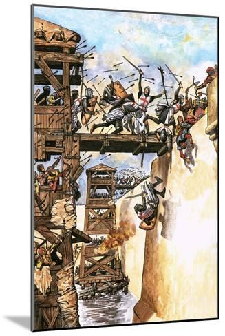 English Soldiers Attacking a City During the Crusades-English School-Mounted Giclee Print