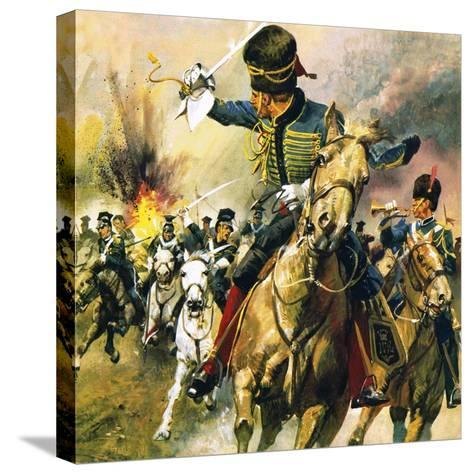 The Valley of Death - the Charge of the Light Brigade-English School-Stretched Canvas Print