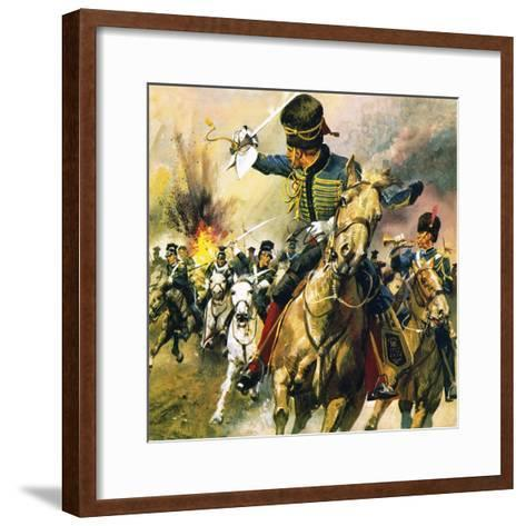 The Valley of Death - the Charge of the Light Brigade-English School-Framed Art Print