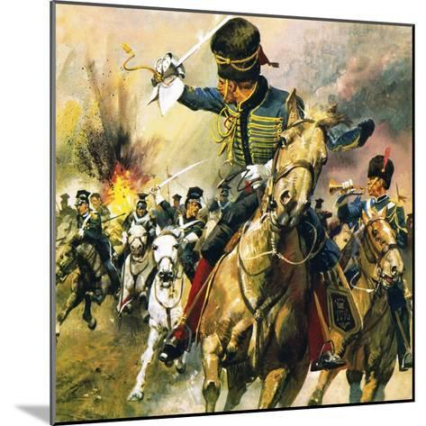 The Valley of Death - the Charge of the Light Brigade-English School-Mounted Giclee Print