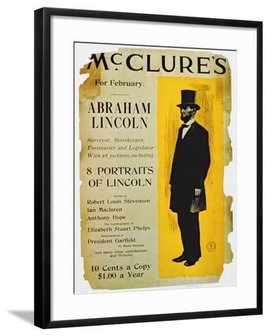Poster Advertising the February Edition of Mcclure's Magazine-American School-Framed Art Print
