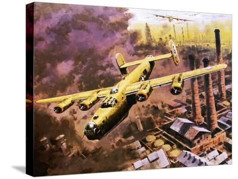 B-24 Liberator Bombers Doing Service in World War Ii-Graham Coton-Stretched Canvas Print