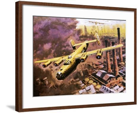 B-24 Liberator Bombers Doing Service in World War Ii-Graham Coton-Framed Art Print