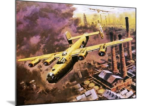 B-24 Liberator Bombers Doing Service in World War Ii-Graham Coton-Mounted Giclee Print