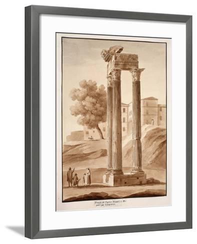 The Temple of Jupiter Tonans - Restored by Camporesi, 1833-Agostino Tofanelli-Framed Art Print