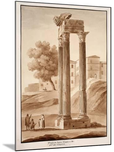 The Temple of Jupiter Tonans - Restored by Camporesi, 1833-Agostino Tofanelli-Mounted Giclee Print