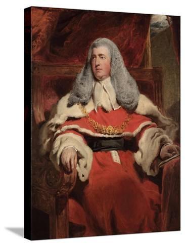 Portrait of Edward Law, 1st Baron Ellenborough, M.P.-Thomas Lawrence-Stretched Canvas Print