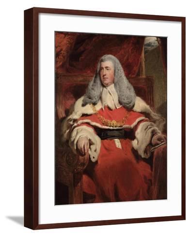 Portrait of Edward Law, 1st Baron Ellenborough, M.P.-Thomas Lawrence-Framed Art Print