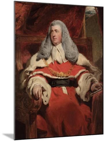 Portrait of Edward Law, 1st Baron Ellenborough, M.P.-Thomas Lawrence-Mounted Giclee Print