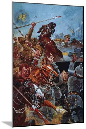 The Charge of the 9th Lancers During the Retreat from Mons-Stanley L^ Wood-Mounted Giclee Print