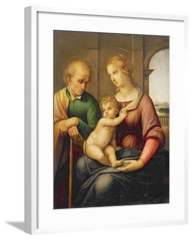 The Holy Family, or Madonna with the Beardless Joseph, C.1506-Raphael-Framed Art Print