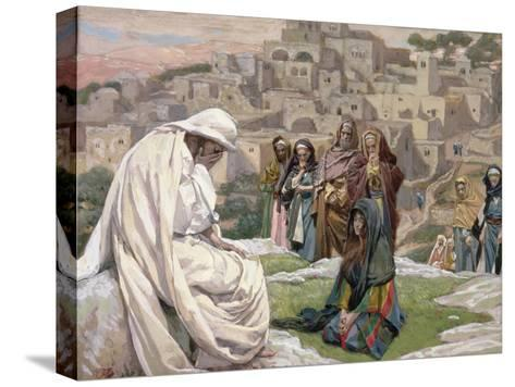 Jesus Wept, Illustration for 'The Life of Christ', C.1886-96-James Tissot-Stretched Canvas Print