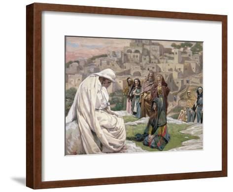 Jesus Wept, Illustration for 'The Life of Christ', C.1886-96-James Tissot-Framed Art Print