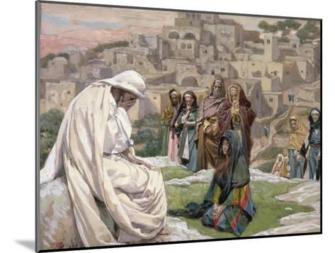 Jesus Wept, Illustration for 'The Life of Christ', C.1886-96-James Tissot-Mounted Giclee Print