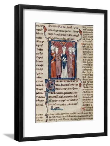 Ms 372 Fol.168 a Marriage Scene, from 'Decrets De Gratien'-French School-Framed Art Print