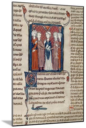 Ms 372 Fol.168 a Marriage Scene, from 'Decrets De Gratien'-French School-Mounted Giclee Print