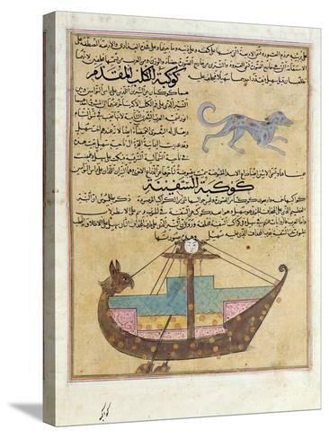 Ms E-7 Fol.26B the Constellations of the Dog and the Keel-Islamic School-Stretched Canvas Print