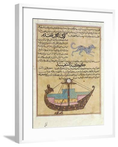 Ms E-7 Fol.26B the Constellations of the Dog and the Keel-Islamic School-Framed Art Print