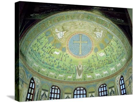 The Cupola with a Mosaic Depicting St. Apollinare--Stretched Canvas Print