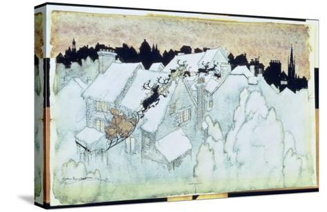 So Up to the House-Top the Coursers They Flew'-Arthur Rackham-Stretched Canvas Print