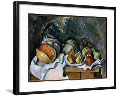 Still Life with Fruit and a Ginger Pot, C.1895-Paul C?zanne-Framed Art Print