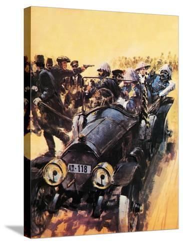 The Assassination of Archduke Franz Ferdinand.-Graham Coton-Stretched Canvas Print
