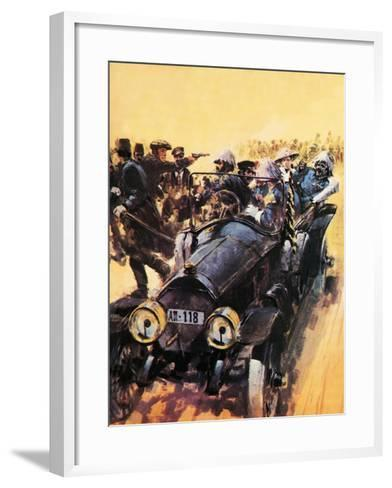 The Assassination of Archduke Franz Ferdinand.-Graham Coton-Framed Art Print