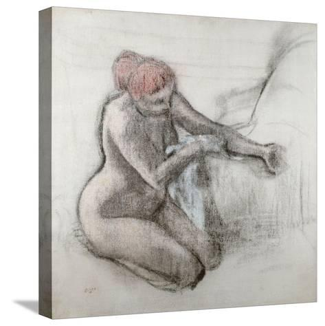 Nude Woman Drying Herself after the Bath, C.1898-Edgar Degas-Stretched Canvas Print