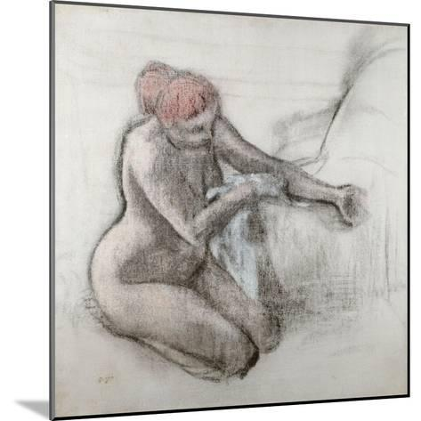 Nude Woman Drying Herself after the Bath, C.1898-Edgar Degas-Mounted Giclee Print