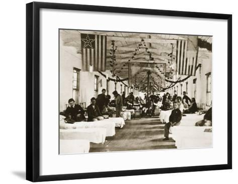Army Square Hospital for Union Army Veterans-Mathew Brady-Framed Art Print