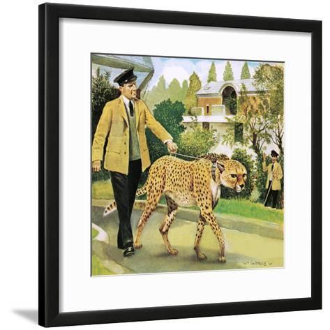 Who's Who at the Zoo: Rabiu, the Dog-Like Cat-G^ W Backhouse-Framed Art Print