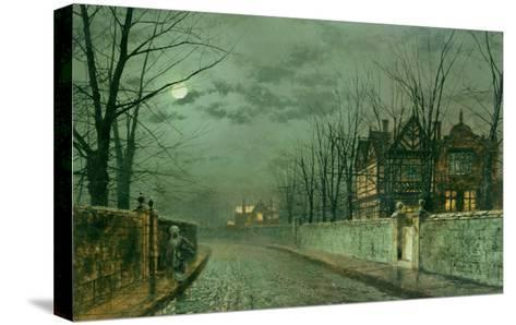 Old English House, Moonlight after Rain, 1883-Grimshaw-Stretched Canvas Print