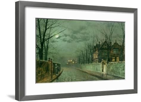 Old English House, Moonlight after Rain, 1883-Grimshaw-Framed Art Print