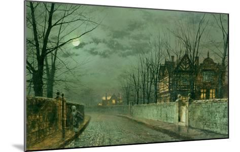 Old English House, Moonlight after Rain, 1883-Grimshaw-Mounted Giclee Print