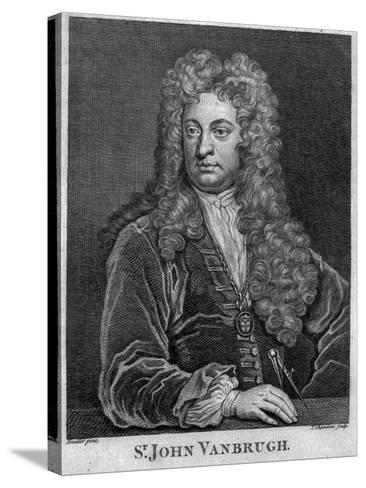 Sir John Vanbrugh, Engraved by Thomas Chambars-Godfrey Kneller-Stretched Canvas Print