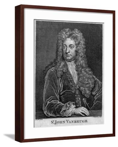 Sir John Vanbrugh, Engraved by Thomas Chambars-Godfrey Kneller-Framed Art Print
