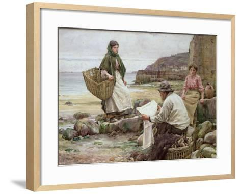 Newlyn: Catching Up with the Cornish Telegraph-Walter Langley-Framed Art Print