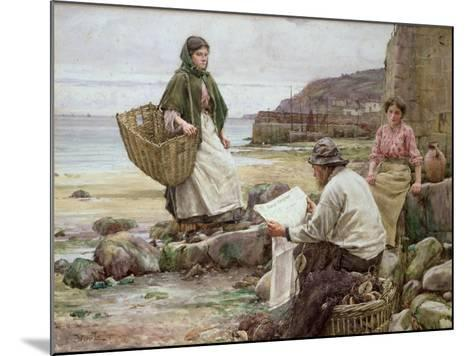 Newlyn: Catching Up with the Cornish Telegraph-Walter Langley-Mounted Giclee Print