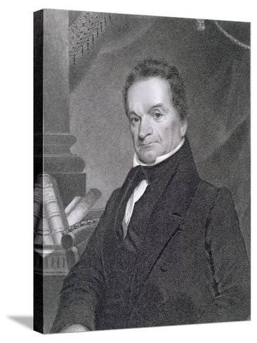 Edward Livingston, Engraved by Edward Wellmore-James Barton Longacre-Stretched Canvas Print