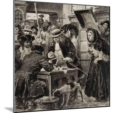 An Eighteenth Century Pawnbroker and His Customers-C.l. Doughty-Mounted Giclee Print