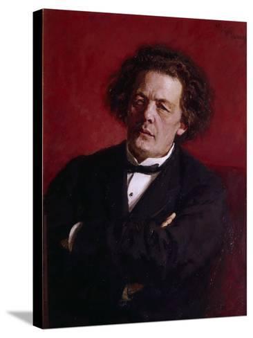 Portrait of Anton Grigoryevich Rubinstein, 1881-Ilya Efimovich Repin-Stretched Canvas Print